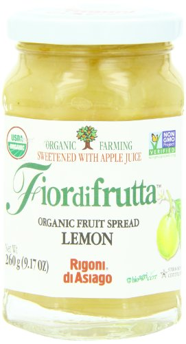 Lemon Jam - Rigoni Di Asiago Fiordifrutta Organic Fruit Spread, Lemon, 9.17 Ounce
