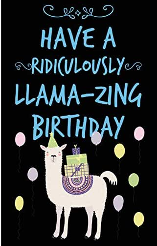Llama-Zing Happy Birthday Lined Composition Notebook And Journal: 6x9 College Ruled Lined Notebook