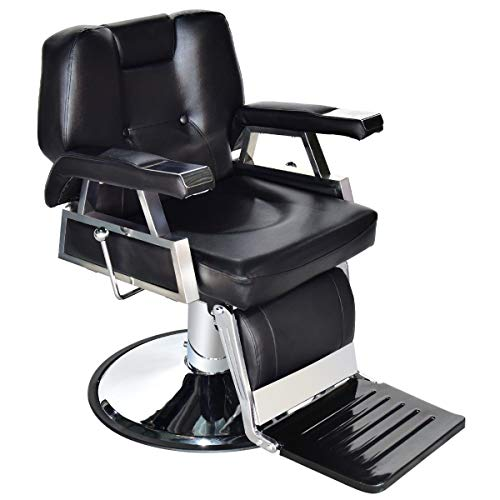 Black All Purpose Beauty Spa Salon Reclining Hydraulic Barber Chair with Ebook from FDInspiration