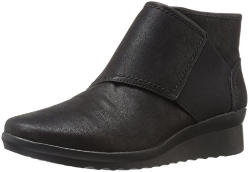 Clarks Women's Caddell Rush Boot, Black, 8 W US