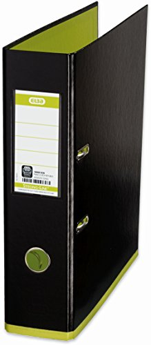 Elba MyColour A4 Single unit Lever Arch File - Black and Lime by Elba