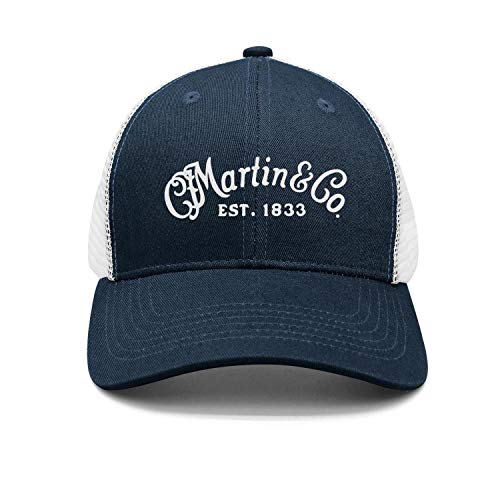 Unisex Navy-Blue Baseball Hats for Mens Womens Chassic C.-F.-Martin-Guitar- Caps ()