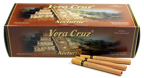 Vera Cruz Nocturne King Size Cigarette Tubes - 200ct per box (50 Boxes/Full Case) by Veracruz