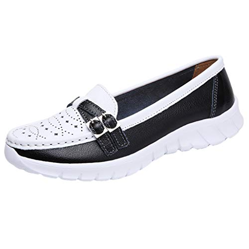 Toimothcn Loafers for Women Causal Slip on Moccasin Walking Driving Comfortable Flat Shoes (Black1,US:8.5) ()