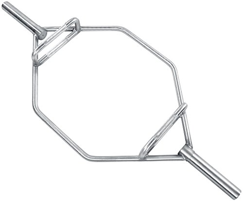 HulkFit Olympic 2-Inch Hex Weight Lifting Trap Bar, 1000-Pound Capacity (Chrome, Regular)