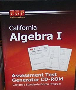 california algebra 1 assessment test generator california standards rh amazon com