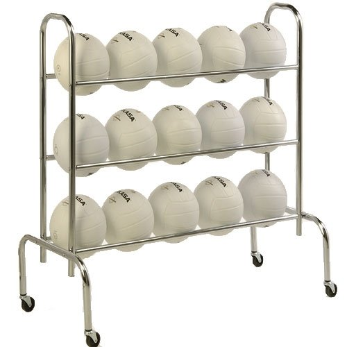 Ball Rack Holds - Tandem Sport 3 Tier Ball Rack (Holds up to 12 Athletic Balls)