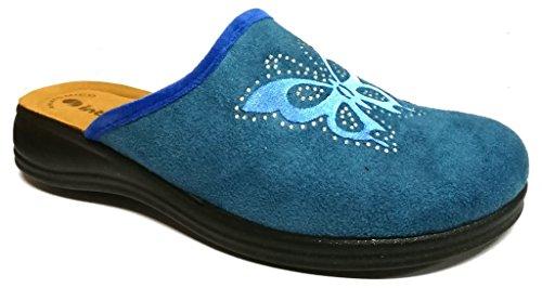 Inblu pantofole ciabatte invernali da donna art. RA-62 royal blu