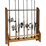 Organized Fishing Single Sided Floor Rack for Fishing Rod Storage, Holds up to 20 Fishing Rods, HFR-020