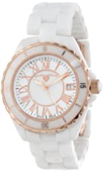 Swiss Legend Women's 20050-WWRR Karamica Collection White/Rose Ceramic Watch
