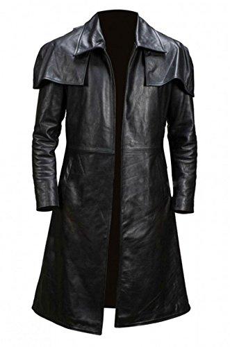 Mens New A7 Vega Veteran Ranger Armor Costume NCR Trench Leather Coat Black
