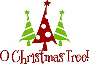Design With Vinyl O Christmas Tree   Holiday Winter Seasonal Vinyl Wall /  Window Decal Sticker Art Decoration Size : 12X20 Color : As Seen As Seen Part 77