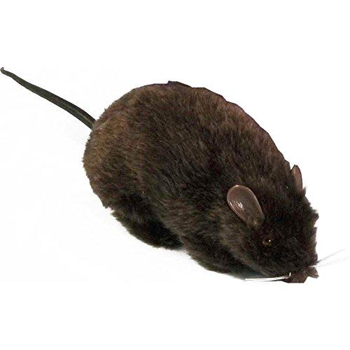 Black Furry Rat Prop