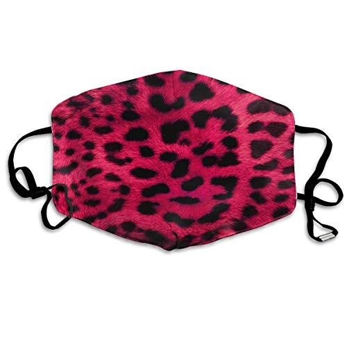 Boys Girls Dustproof Hypoallergenic Anti-Allergies Earloop Half Face Face Masks Respirator Skate Windproof Polyeste Mask Adjustable Elastic Band, Leopard ()