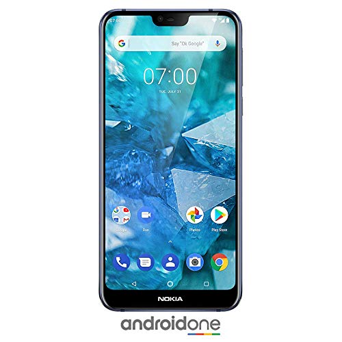 Nokia 7.1 – Android 9.0 Pie – 64 GB – Dual Camera – Dual SIM Unlocked Smartphone (Verizon/AT&T/T-Mobile/MetroPCS/Cricket/H2O) – 5.84″ FHD+ HDR Screen – Blue – U.S. Warranty