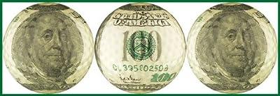 Ben Franklin $100 Bill Golf Ball Gift Set