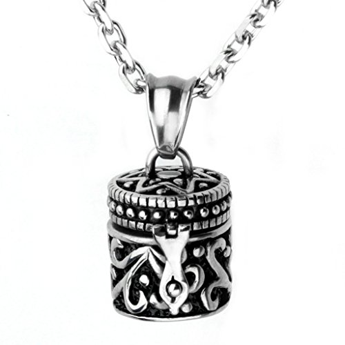 Stainless Openable Cremation Cylinder Necklace