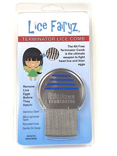 Lice Fairyz Professional Terminator Lice Comb Most Effective Comb to Naturally Treat Head Lice Easily Removes Lice & Lice Eggs with Highest Quality Grooved Stainless-Steel Teeth - 2 or 8 Pack by Lice Fairyz (Image #7)