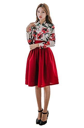 Usa Traditional Costume (Sassy Pippi Korean Modernized Traditional Costume Modern Hanbok (M, Set A))