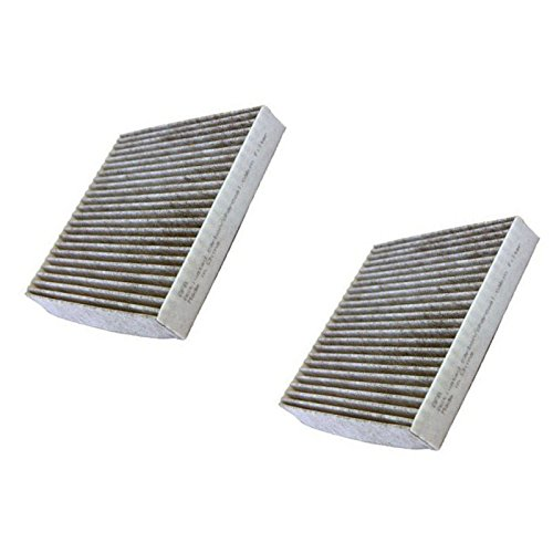 HQRP 2-pack Activated Carbon / Charcoal Air Cabin Filters for Toyota 87139-YZZ08 / 87139-YZZ10 plus HQRP UV Meter