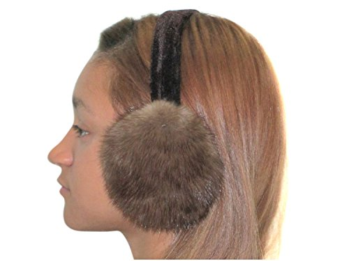 Medium Brown Natural Russian Sable Ear Muffs