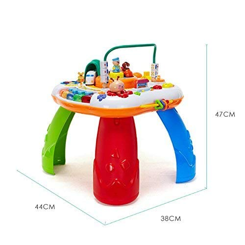 Janvitha Multi-Functional Activity Table with Train, Music and Piano for Kids - Multicolored Baby Learning Table - Quality Product