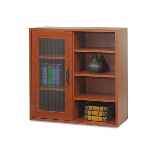 Safco Products 9444CY Apres Modular Storage Single Door/Open Shelves, Cherry by Safco Products