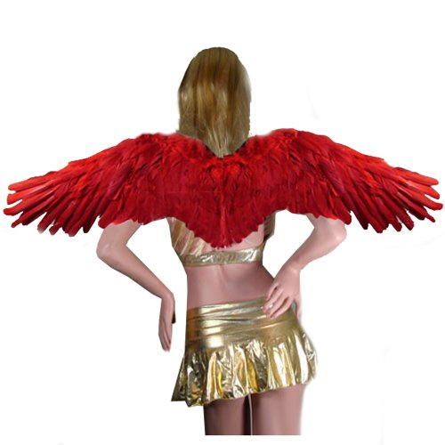 SACASUSA (TM) Large Feather Fairy Angel Wings in Red for $<!--$22.89-->