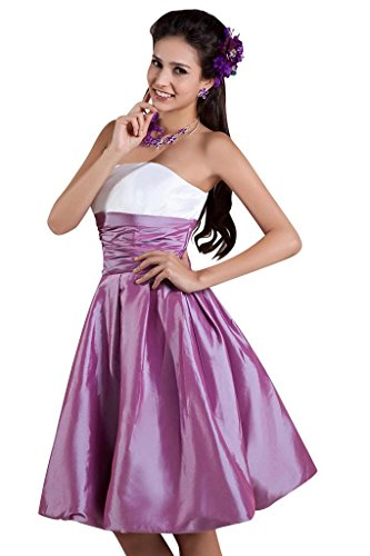 Lila BRIDE Taft Einfache GEORGE Knielang Cocktailkleid d0RqqXw