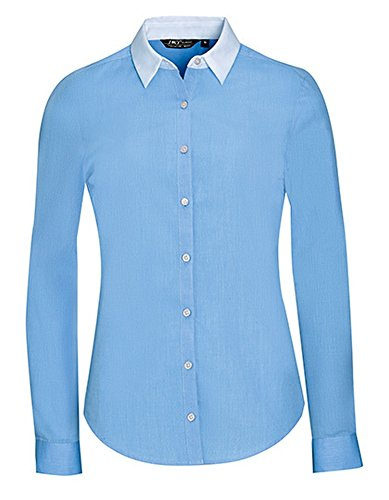 Celeste Women 's Camiseta end Long Belmont Azul to Sleeve End xdzXXqrYw