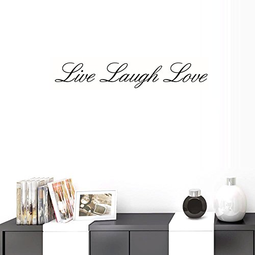 BIBITIME English Word Sayings Proverbs Live Laugh Love Vinyl Wall Decals Quotes for Couple Bedroom Valentines Day Decorations Living Room Classroom Home Art PVC ()