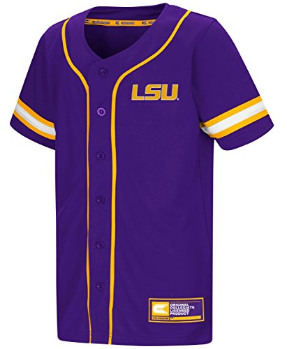 LSU Tigers NCAA 'Play Ball' Youth Button Up Baseball Jersey