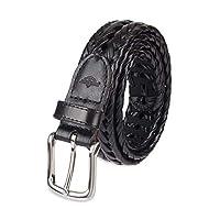 Dockers Dockers para hombre Cinturón de cuero tejido de 32 mm, negro, 40