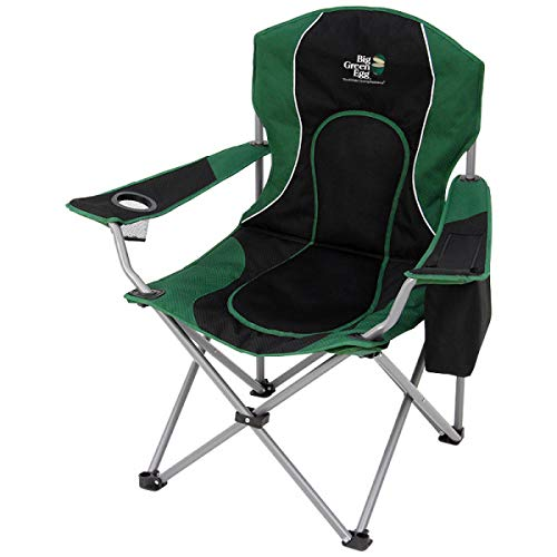 Big Green Egg Recreational Folding Chair with Cooler, Cup Holder, Carrying Bag