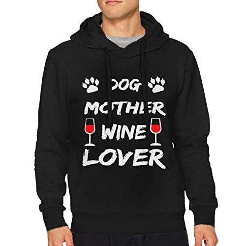 Mens Dog Mother Wine Lover Particular Drawstring Sweatshirts S ()