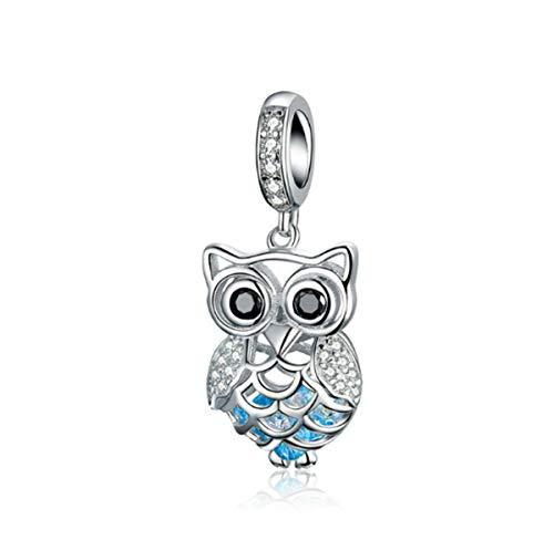 Eternalll Jewellery Original 100% 925 Sterling Silver Charm Bead Love Animal Charm Family Birthday fit Pandoras Bracelets DIY Charms (Hollow Owl Charms)