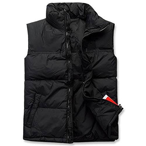(TOP Fighting Men's Box Quilted Lightweight Ultra Loft Vest (Black/Large))
