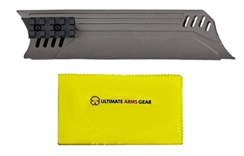 ATI A.1.40.1162 Mossberg 500/535/590/835, Remington 870 and Winchester 1200/1300 12 Ga Forend, Destroyer Gray + Ultimate Arms Gear Silicone Cleaning Cloth