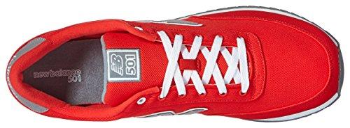 New Balance  Mz501, Baskets mode pour homme Blue / Gun Metal - rouge - Rouge/gris acier,
