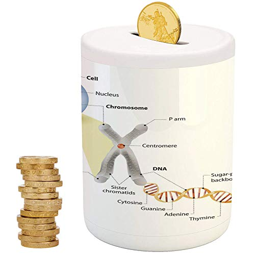 iPrint Educational,Money Bank for Kids,Christmas Birthday Gifts for Kids Boys Girls Home Decoration,Cell Chromosome DNA Gene Genome Study Double Helix Evolution Science Research Decorative
