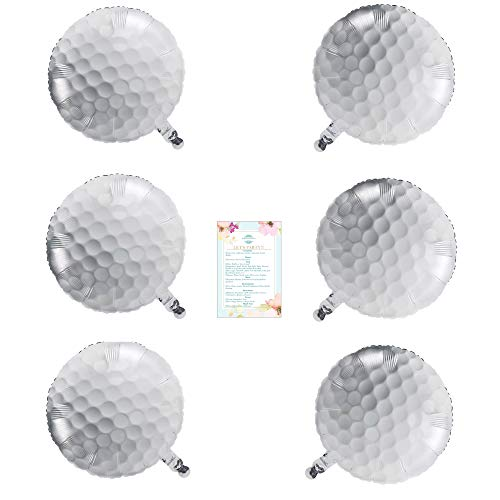 6 Foil Golf Ball Balloons (with Party Planning