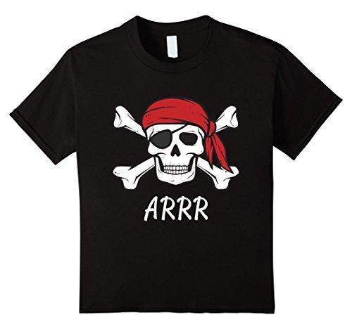 Adult Unisex Pirate Shirt (Kids Pirate Shirt Kids or Adults Crossbones and Skull Tshirt 4 Black)