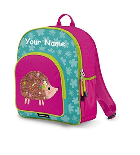 Personalized Crocodile Creek Kids Hedgehog School or Travel Backpack - 14 Inches (Names Hedgehog Adorable)