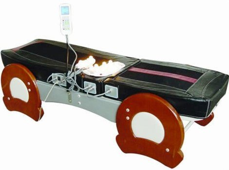 Jade Therapy Massage Bed Table, FIR Far Infrared Spinal Traction Decompression Help