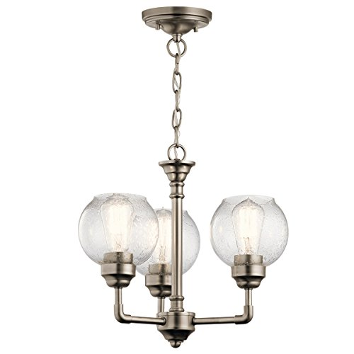 Chandeliers 3 Light with Antique Pewter Finish Steel Material Medium 16 inch 300 Watts