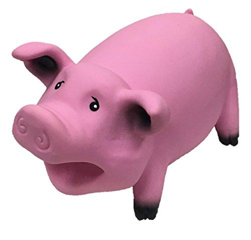 Latex Smiling Pig Design Dog Toy ()