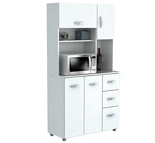 Kitchen Microwave Hutch: Amazon.com: Inval America 4 Door Microwave Storage Cabinet