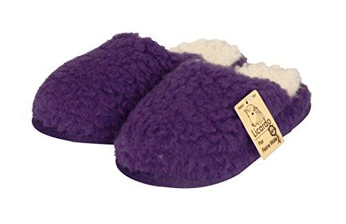 Wellness-Pantoffel Wolle lila 44/45