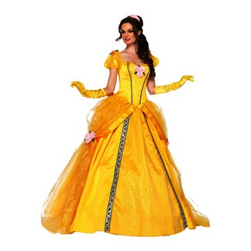Deluxe Belle Adult Costume - Small (Storybook Belle Costume)