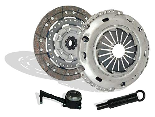Vr6 Golf Gti - Clutch And Slave Kit works with Audi TT Quattro Volkswagen Beetle Jetta Golf S Gti VR6 Gls Sportline Gl Base Glx ALMS Edition 2000-2005 1.8L L4 2.8L V6 (6 Speed Only)